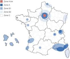 carte des zones Pinel